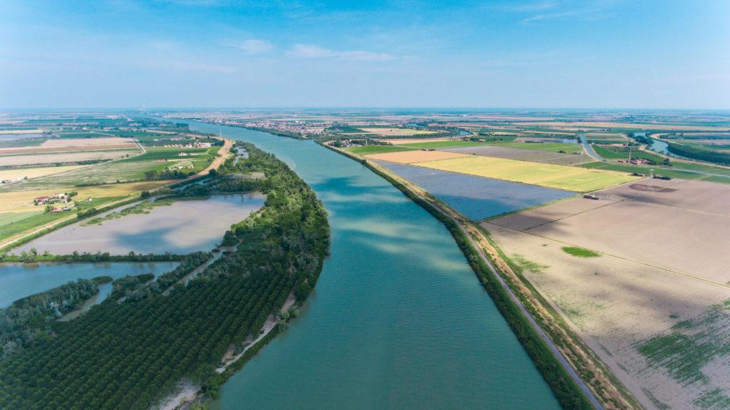 parco del delta del po - polesine, Italia